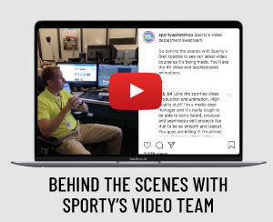 Behind the scenes with Sporty's video team